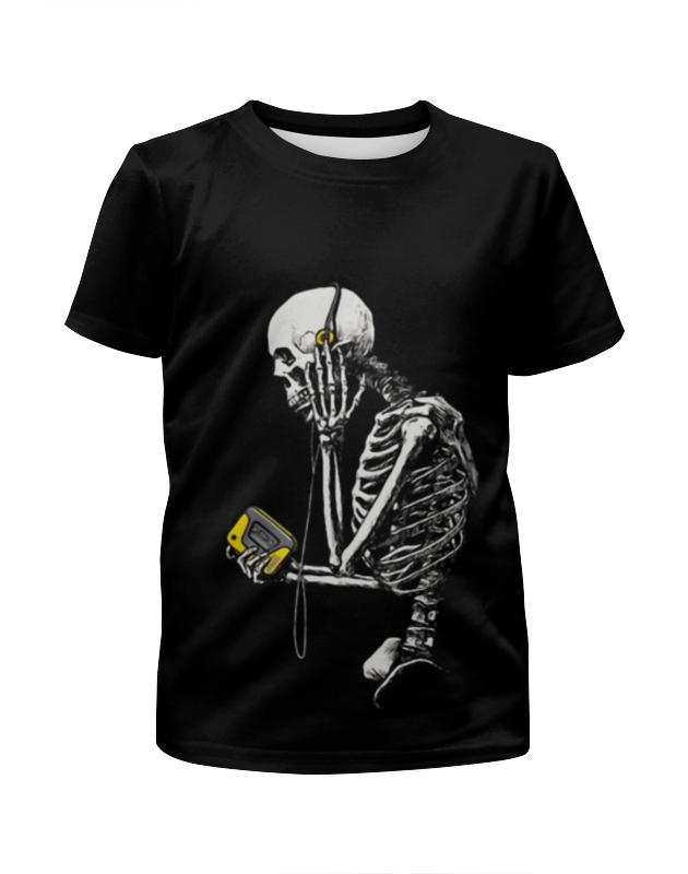 Футболка с полной запечаткой для девочек Printio Скелетон меломан футболка с полной запечаткой для девочек printio пртигр arsb