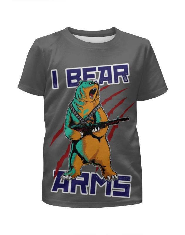 Футболка с полной запечаткой для девочек Printio Bear arms