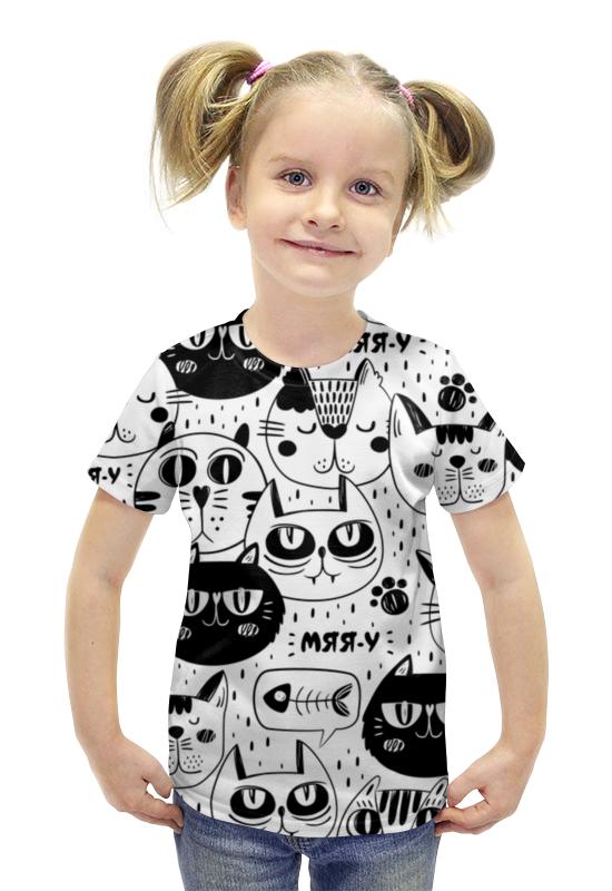 Футболка с полной запечаткой для девочек Printio Котики футболка с полной запечаткой для девочек printio рианна