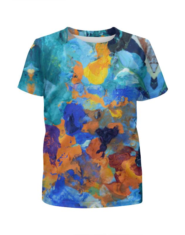 Футболка с полной запечаткой для девочек Printio застывшие яркие краски футболка с полной запечаткой для девочек printio жидкие краски