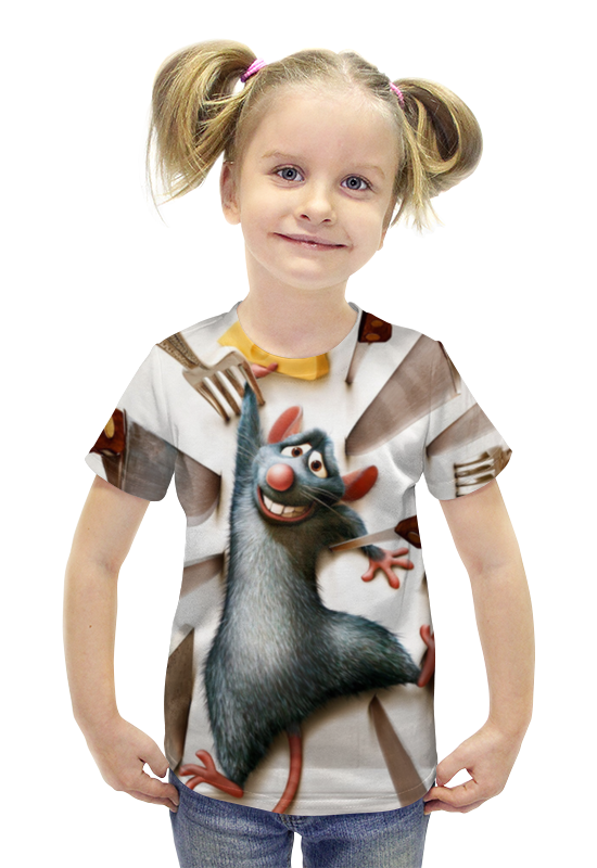 Футболка с полной запечаткой для девочек Printio Рататуй футболка с полной запечаткой для девочек printio пртигр arsb