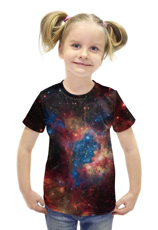 Футболка с полной запечаткой для девочек Printio Космос футболка с полной запечаткой для девочек printio пртигр arsb