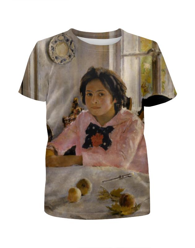 Футболка с полной запечаткой для девочек Printio Девочка с персиками серова м клад белой акулы