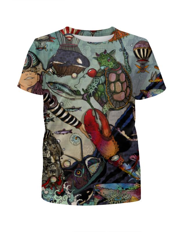 Футболка с полной запечаткой для девочек Printio Алиса в стране чудес футболка с полной запечаткой мужская printio алиса