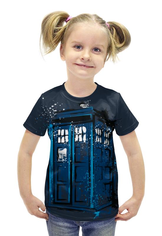Футболка с полной запечаткой для девочек Printio Тардис футболка с полной запечаткой для девочек printio пртигр arsb
