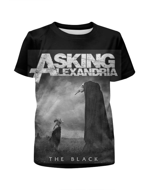 Футболка с полной запечаткой для девочек Printio Asking alexandria the black футболка с полной запечаткой для мальчиков printio asking alexandria the black