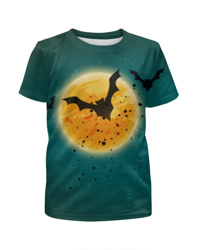 Футболка с полной запечаткой для девочек Printio Ночь хеллоуина цена и фото