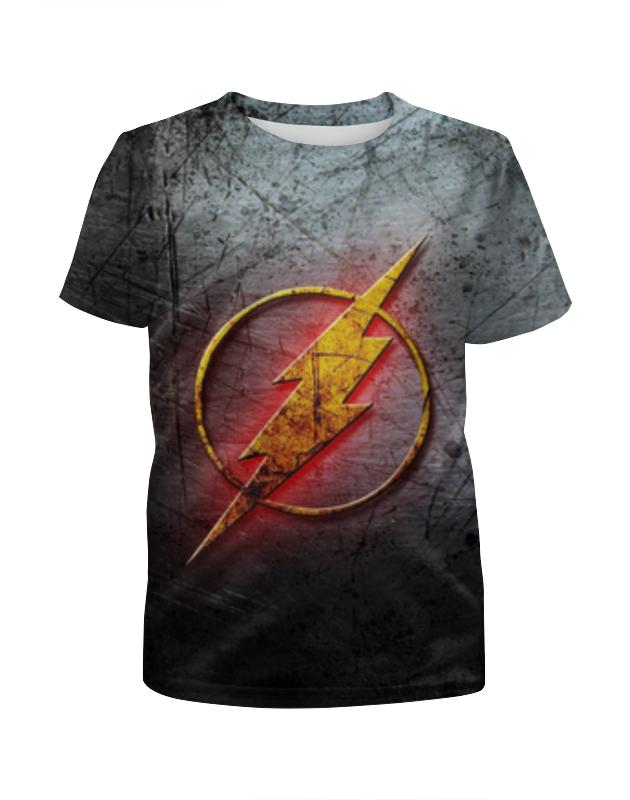 Футболка с полной запечаткой для девочек Printio Флэш (the flash) футболка с полной запечаткой женская printio the big bang theory