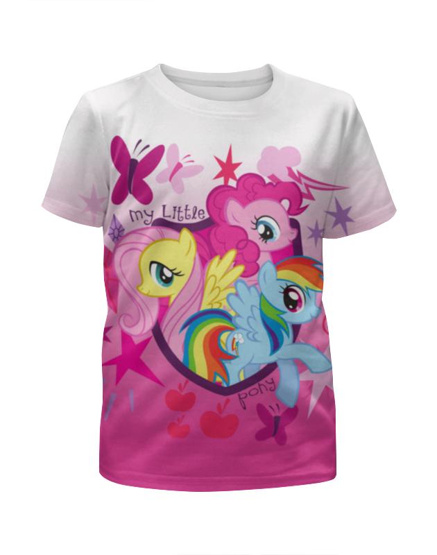 Футболка с полной запечаткой для девочек Printio My little pony академия групп мешок для обуви my little pony