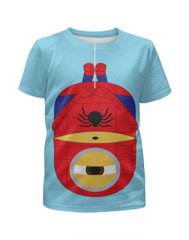Футболка с полной запечаткой для девочек Printio Человек паук-миньон футболка с полной запечаткой для мальчиков printio миньон киборг