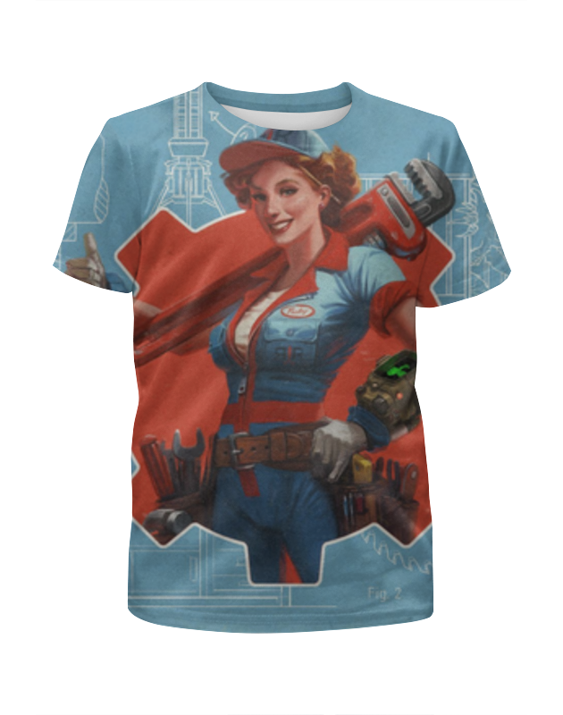 Футболка с полной запечаткой для девочек Printio Девушка (fallout) футболка с полной запечаткой для девочек printio fallout