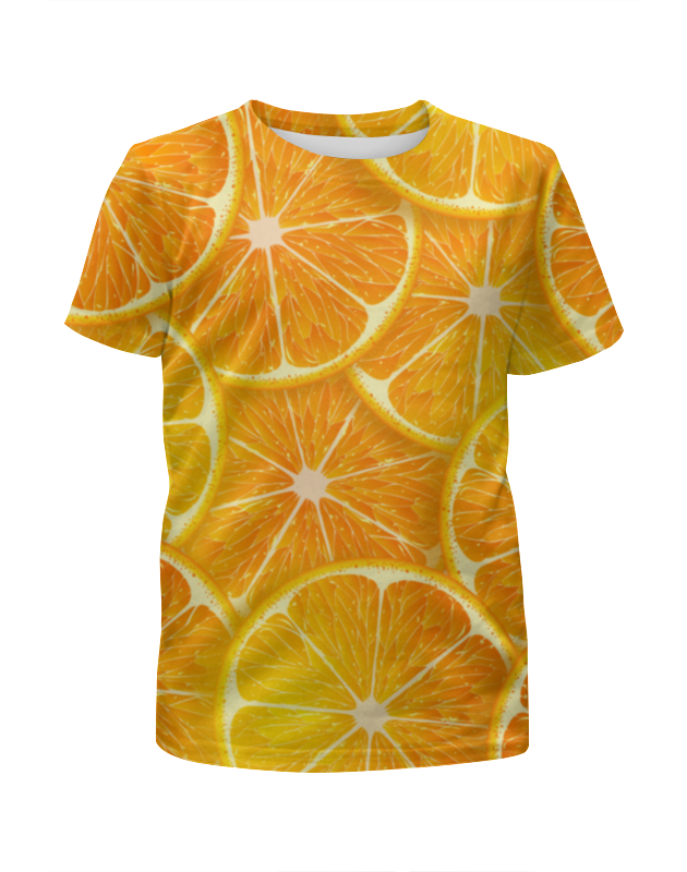 Футболка с полной запечаткой для девочек Printio Апельсины футболка с полной запечаткой для девочек printio весеннее настроение