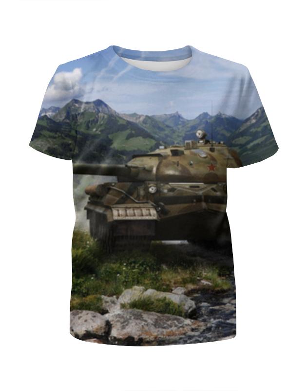 Футболка с полной запечаткой для девочек Printio World of tanks футболка для беременных printio world of tanks