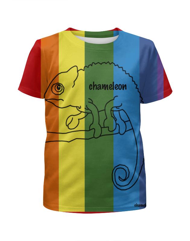 Футболка с полной запечаткой для девочек Printio Хамелеон, сhameleon футболка хамелеон