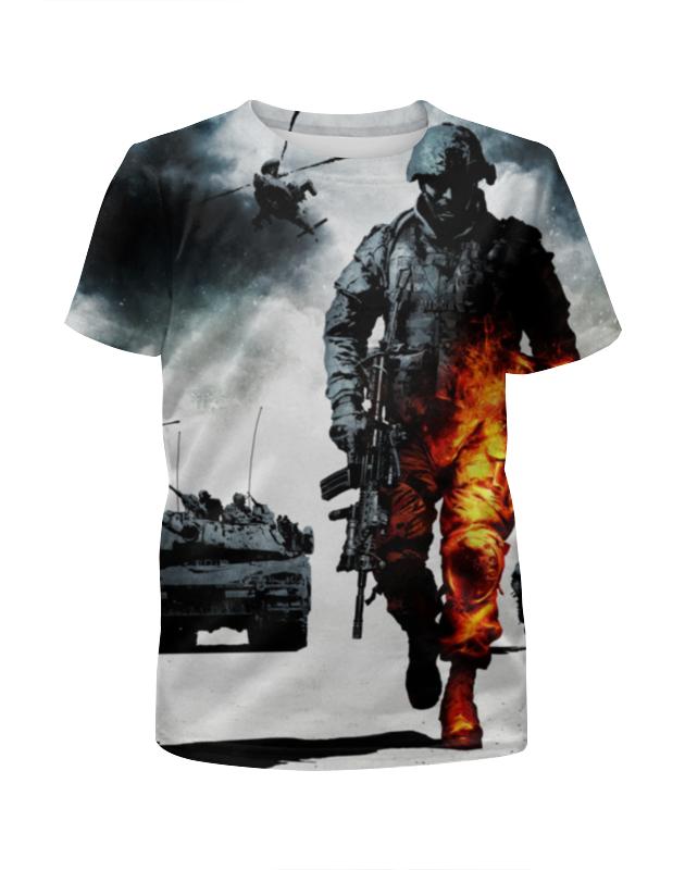 Футболка с полной запечаткой для девочек Printio Battlefield футболка с полной запечаткой для девочек printio battlefield 4