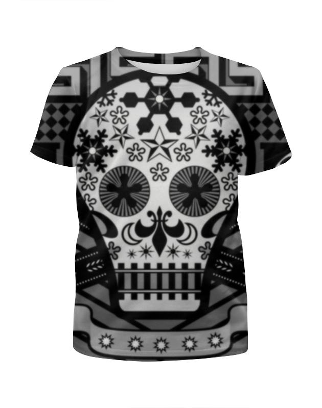 Футболка с полной запечаткой для девочек Printio Череп (skull) футболка с полной запечаткой для девочек printio hydra red skull