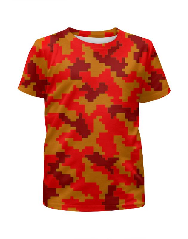 Футболка с полной запечаткой для девочек Printio Красные пиксели футболка с полной запечаткой для девочек printio spawn