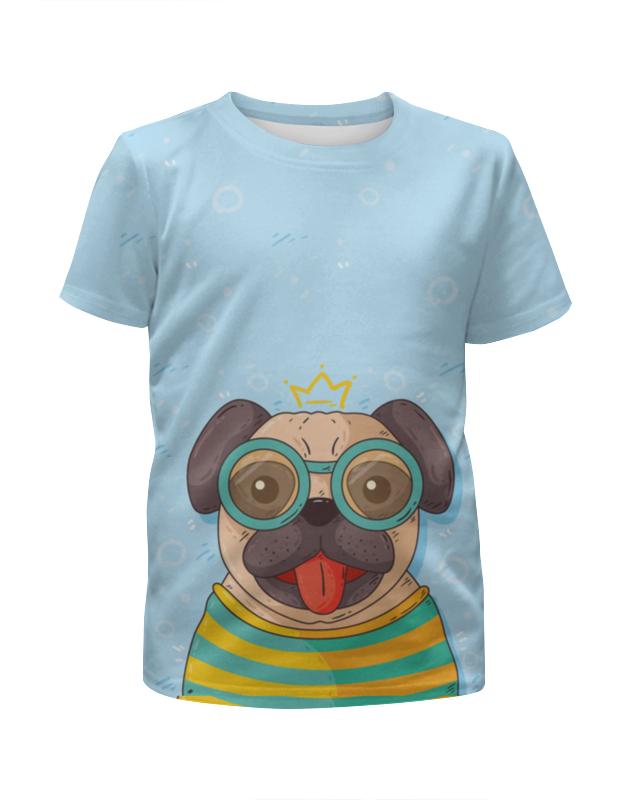 Футболка с полной запечаткой для девочек Printio Песик в очках футболка с полной запечаткой для мальчиков printio песик