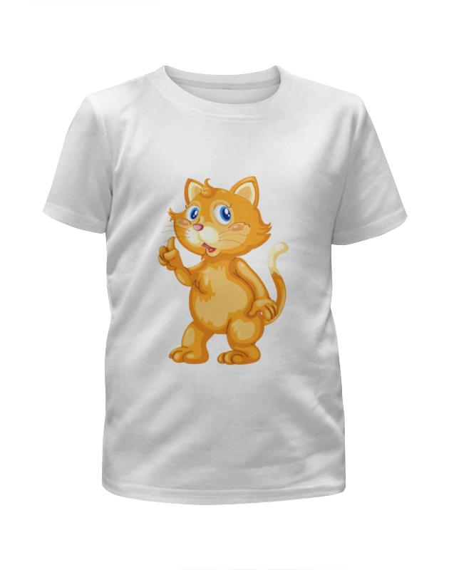 Футболка с полной запечаткой для девочек Printio Рыжий кот футболка с полной запечаткой для девочек printio моряк попай