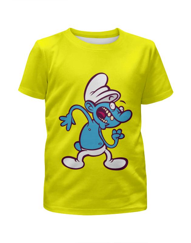 Футболка с полной запечаткой для девочек Printio Смурфики ( the smurfs ) the smurfs воздушный змей смурфетта фея смурфики