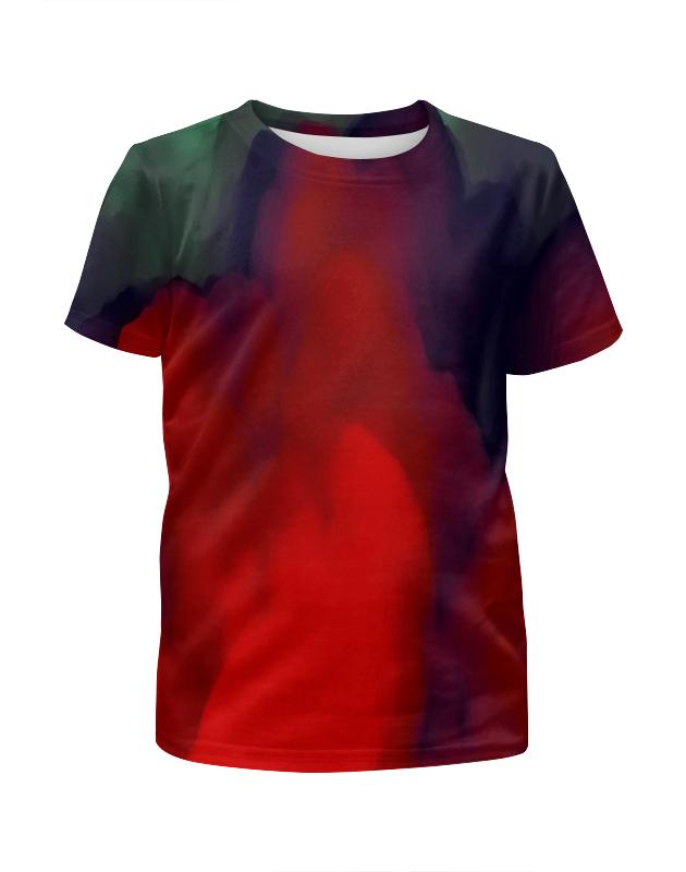 Футболка с полной запечаткой для девочек Printio Абстрактные краски футболка с полной запечаткой для девочек printio нежные абстрактные цветы