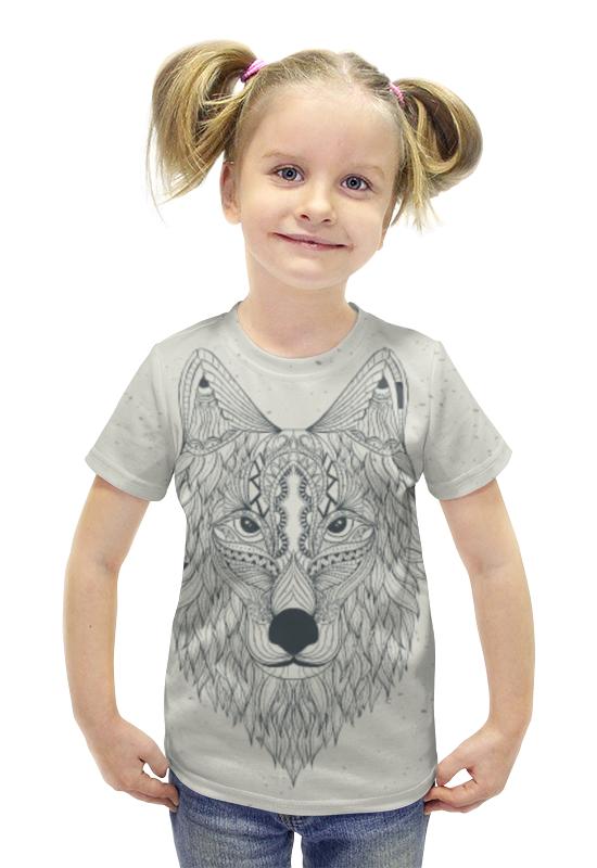 Футболка с полной запечаткой для девочек Printio Волчий выбор волчий круг