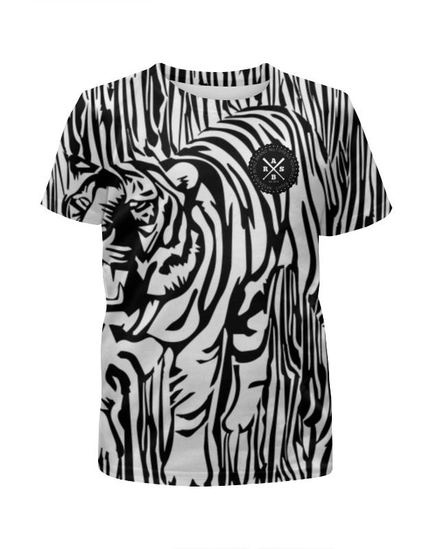 Футболка с полной запечаткой для девочек Printio Пртигр arsb футболка для беременных printio psy art arsb