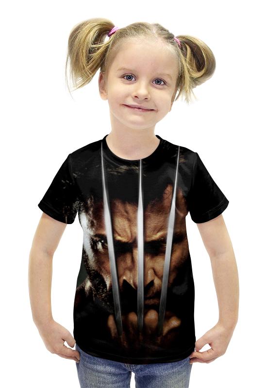 Футболка с полной запечаткой для девочек Printio Росомаха футболка с полной запечаткой для девочек printio spawn