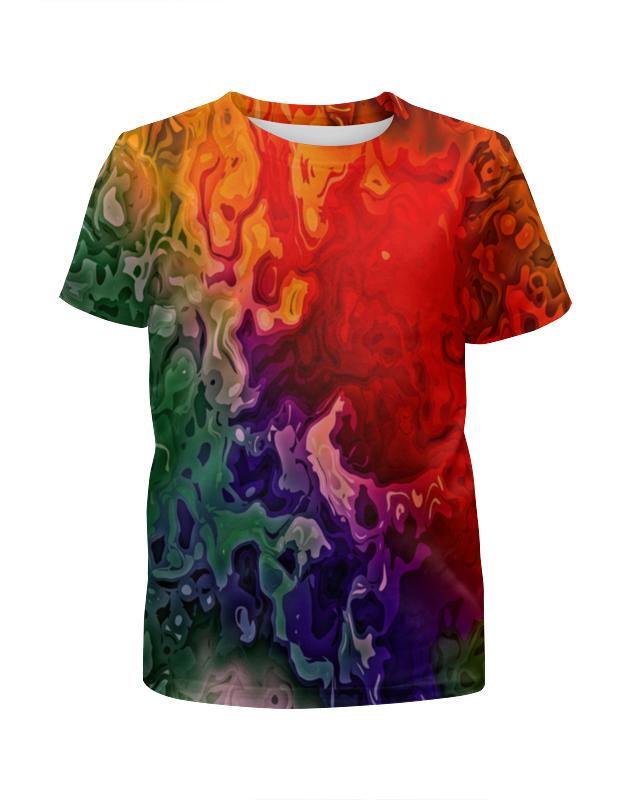 Футболка с полной запечаткой для девочек Printio Цветные краски футболка с полной запечаткой для девочек printio жидкие краски