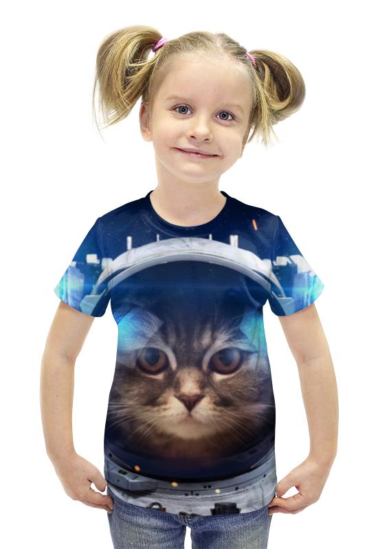 Футболка с полной запечаткой для девочек Printio Котосмонавт футболка с полной запечаткой для девочек printio пртигр arsb