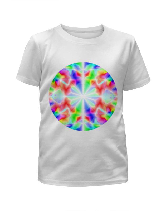 Футболка с полной запечаткой для девочек Printio Glitch art (калейдоскоп) футболка с полной запечаткой для девочек printio glitch art круг в квадрате