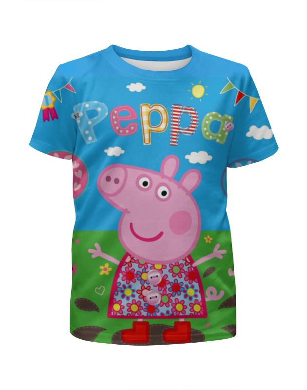 Футболка с полной запечаткой для девочек Printio Peppa pig peppa pig транспорт 01565