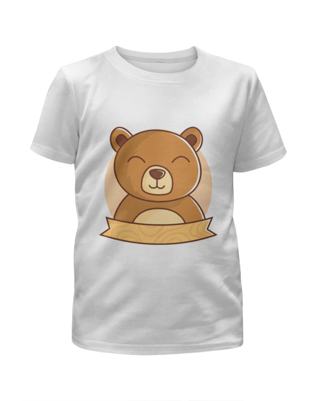 Футболка с полной запечаткой для девочек Printio Спящий медвежонок футболка с полной запечаткой для девочек printio пртигр arsb
