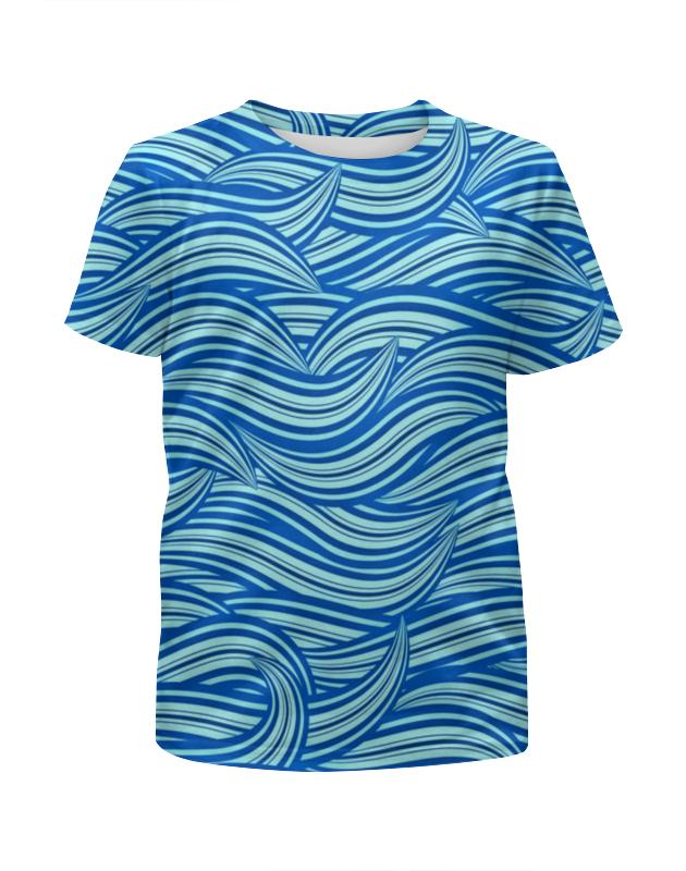 Футболка с полной запечаткой для девочек Printio Морские волны футболка с полной запечаткой для девочек printio пртигр arsb
