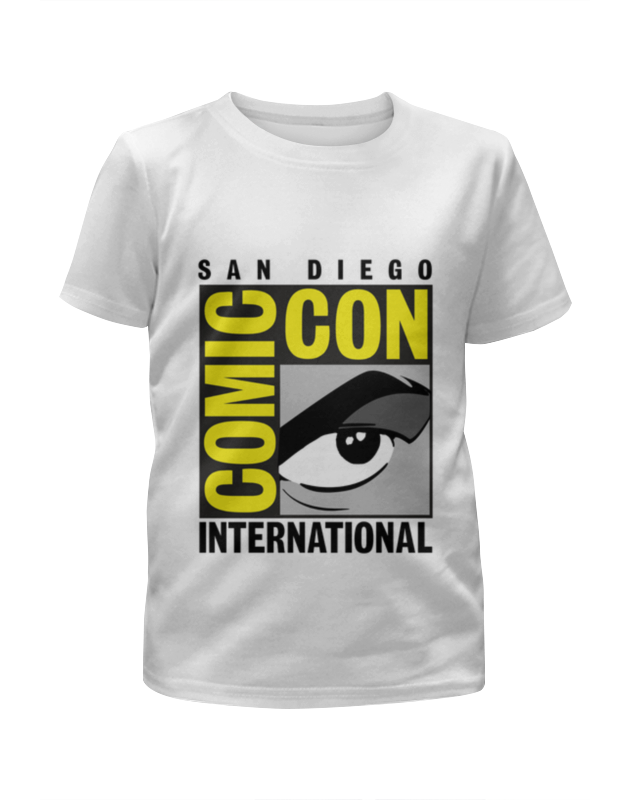 Футболка с полной запечаткой для девочек Printio San diego comic-con international картаев павел в конце сентября в москве продет очередной игромир и comic con russia