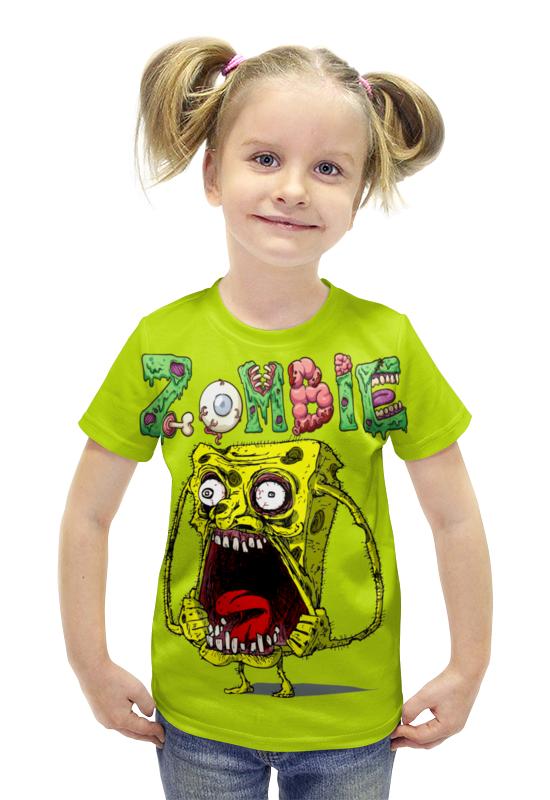 Футболка с полной запечаткой для девочек Printio Zombie футболка с полной запечаткой для девочек printio пртигр arsb