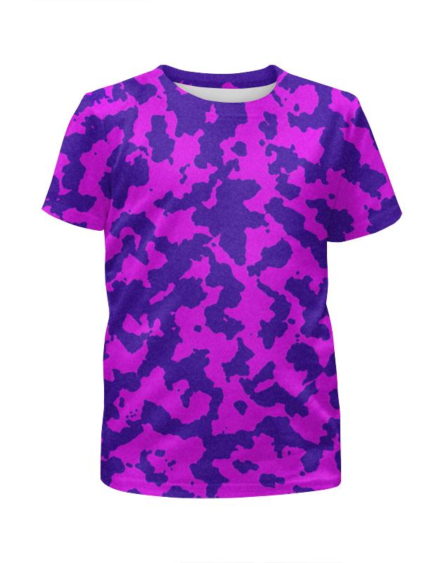 Футболка с полной запечаткой для девочек Printio Розово-синий камуфляж футболка с полной запечаткой для девочек printio синий огонь