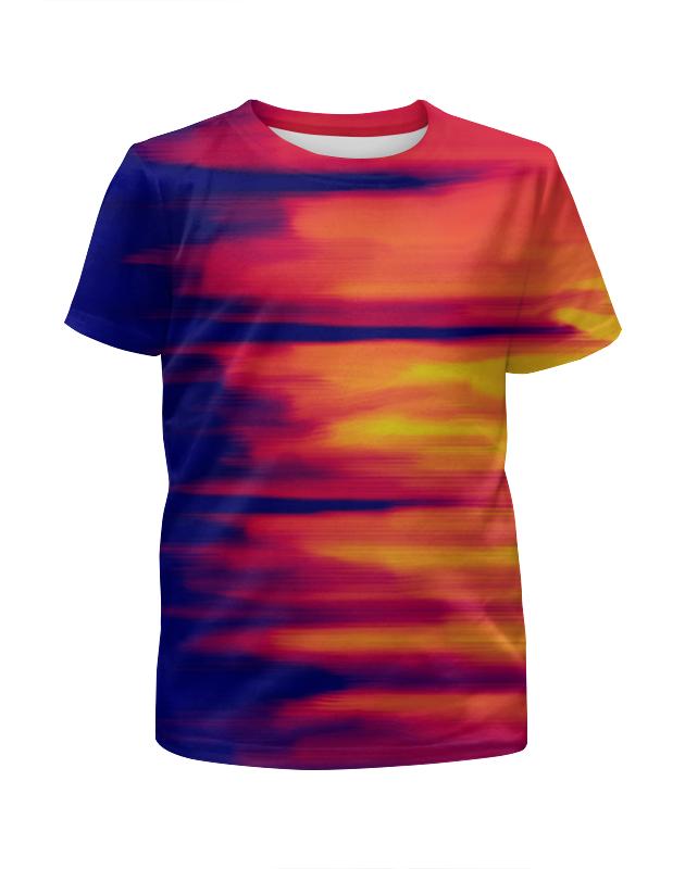 Футболка с полной запечаткой для девочек Printio Размытые цвета футболка с полной запечаткой для мальчиков printio размытые цвета