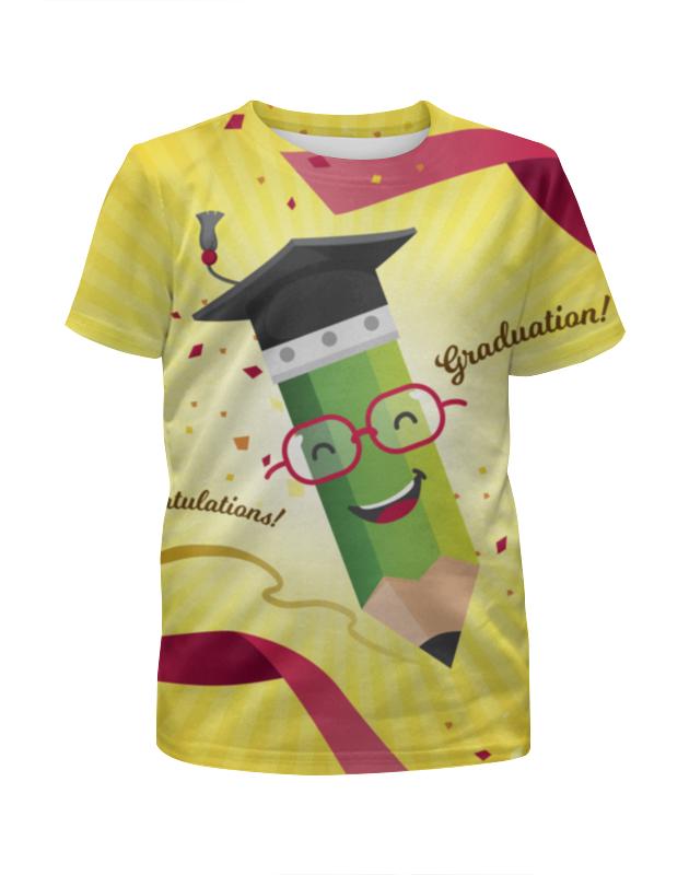 Футболка с полной запечаткой для девочек Printio Улыбающийся карандаш футболка с полной запечаткой для девочек printio пртигр arsb