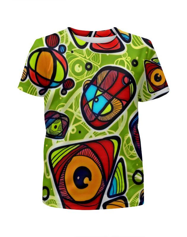 Футболка с полной запечаткой для девочек Printio Минимализм футболка с полной запечаткой женская printio япония минимализм