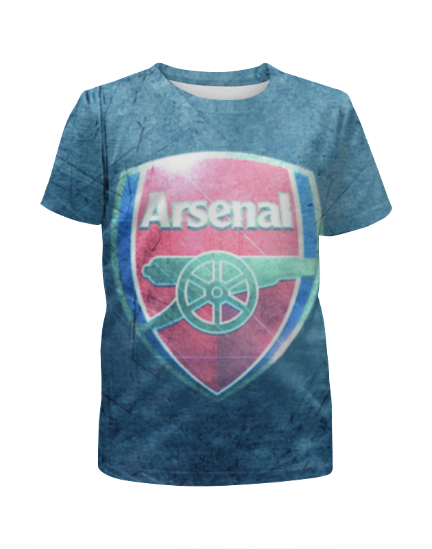 Футболка с полной запечаткой для девочек Printio Арсенал (arsenal) swansea arsenal