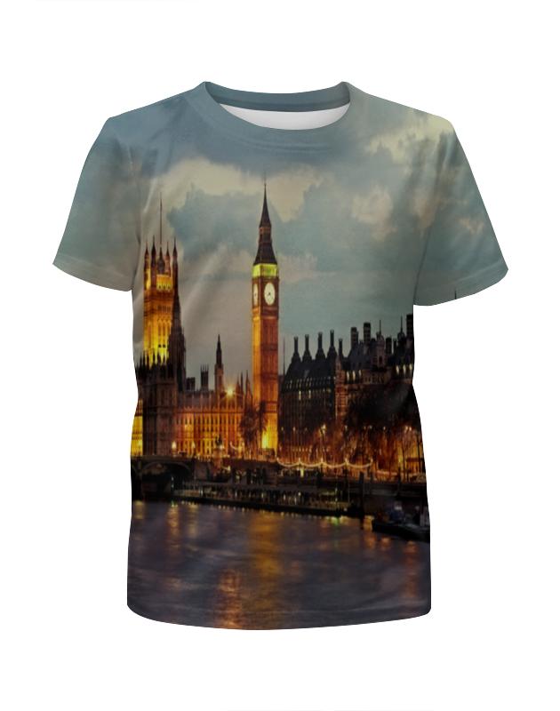 Футболка с полной запечаткой для девочек Printio London футболка для беременных printio london