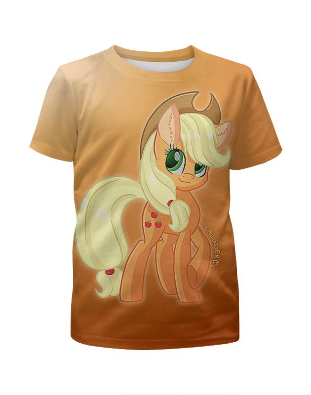 Футболка с полной запечаткой для девочек Printio Маленький пони. мультсериал футболка с полной запечаткой женская printio маленький пони мультсериал