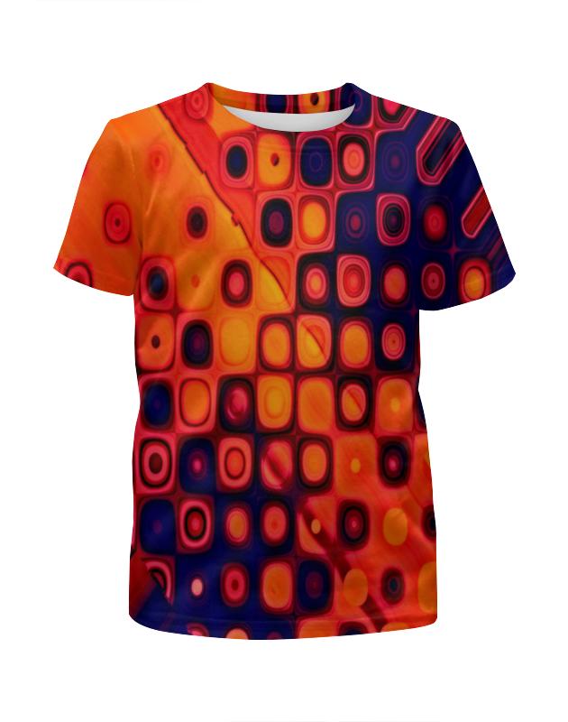 Футболка с полной запечаткой для девочек Printio Яркие кубики футболка print bar кубики