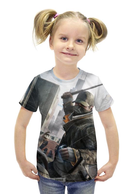 Футболка с полной запечаткой для девочек Printio Watch dogs футболка с полной запечаткой для мальчиков printio watch dogs 2 arsb