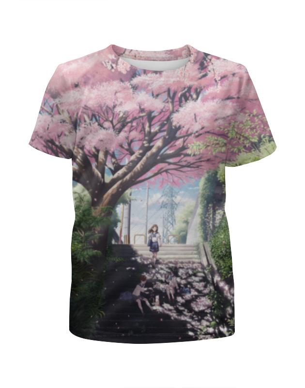 Футболка с полной запечаткой для девочек Printio Аниме пейзаж футболка с полной запечаткой printio аниме пейзаж