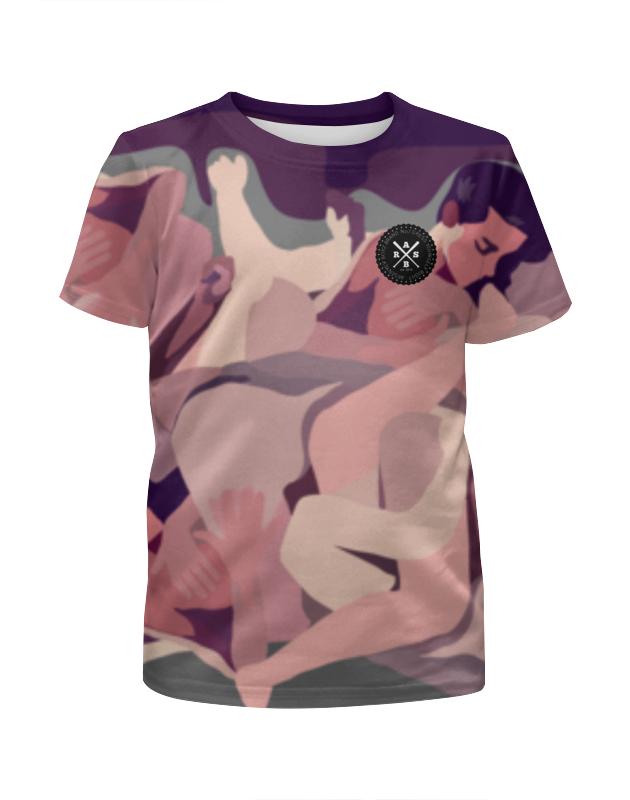 Футболка с полной запечаткой для девочек Printio Slove arsb футболка для беременных printio psy art arsb