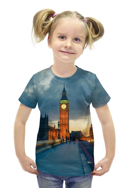 Футболка с полной запечаткой для девочек Printio Лодон футболка с полной запечаткой для девочек printio spawn