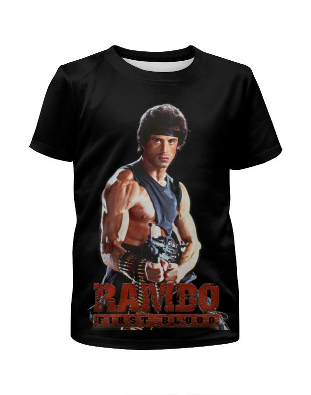 Футболка с полной запечаткой для девочек Printio Rambo цена и фото