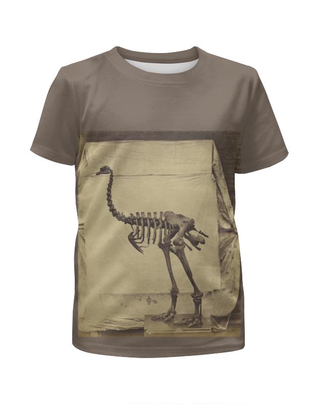 Printio Скелет динозавра футболка с полной запечаткой для девочек printio скелет с гитарой